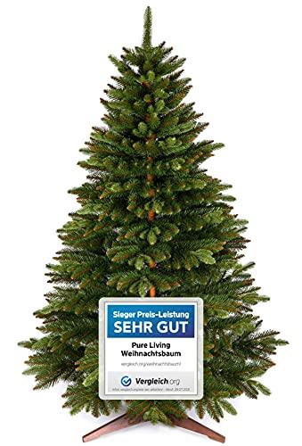 Weihnachtsbaum künstlich 180cm – Naturgetreu, Besonders dichte Zweige, einfacher Aufbau, Made in EU - Premium Christbaum mit Holzständer, Aufbewahrungstasche –...