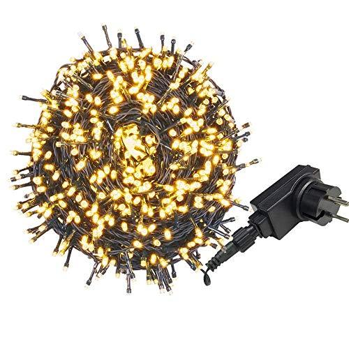 AUFUN LED Lichterkette Außen Außenlichterkette Weihnachtsbeleuchtung Wasserdicht IP44 mit 8 Leuchtmodi für Hochzeit, Party, Garten, Ostern...