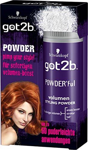 Schwarzkopf Got2b -jauheyksikön tilavuus Styling Powder, 3er Pack (3 x 10 g)