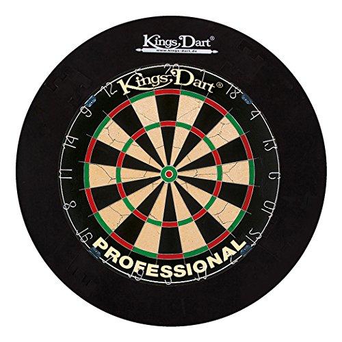 Kings Dart Dart-Set Profi | Turnier-Dartscheibe + Dart-Surround | Sisalborsten, Spider-Feldbegrenzung | Sicherheit für Wand und Darts | Für Soft- und Steeldarts |...