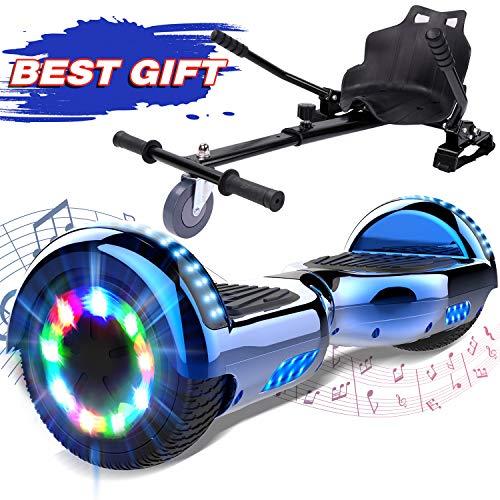 """GeekMe Elektro Scooter Self Balancing Scooter 6.5"""" Segway Geschenk für Kinder und Erwachsene - Bluetooth-Lautsprecher LED-Leuchten 700W"""