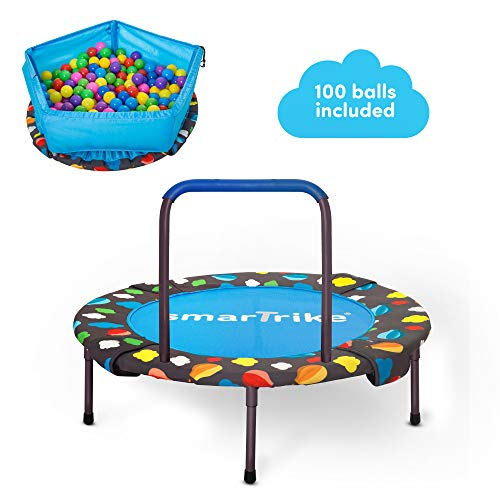 smarTrike 3-in-1 Kids Trampoline for Two Kids Indoor / Outdoor, Blue