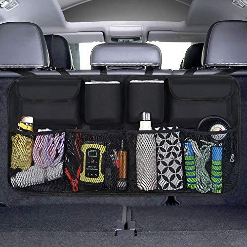 URAQT Kofferraum Organizer Auto, Auto Aufbewahrungstasche, Kofferraumtasche Auto, Wasserdichten Taschen Auto mit Starkes elastisches, Zauberstabstruktur für SUV,...