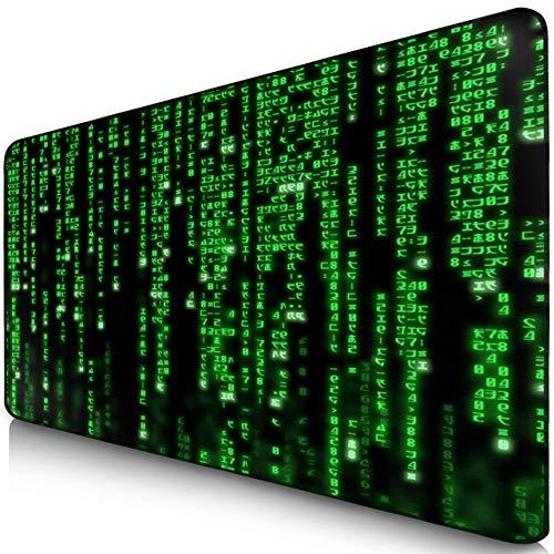 Sidorenko XXL Gaming Mauspad | 900 x 400mm | Mousepad | spezielle Oberfläche verbessert Geschwindigkeit und Präzision | Fransenfreie Ränder | rutschfest | Schwarz