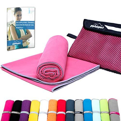Microfiber Towel Set - Microfiber Towels for Sauna, Fitness, Sport I Beach Towel, Sports Towel I 1x XXL (200x90cm) I Fuchsia