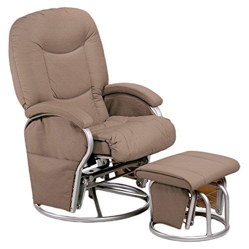 Hauck Metall-Glider Recline Stillstuhl und Entspannungsstuhl, mit Hocker und Armlehne, Schwingfunktion, seitlichen Taschen, drehbar, verstellbar und gepolstert, aus...