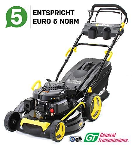 Craftfull Premium petrol lawn mower 5in1 - Euro 5-4,4 Kw 6 Ps - 196 cc 4-stroke engine - GT brand gear - 53 cm cutting width - self-propelled - Easy Clean ...