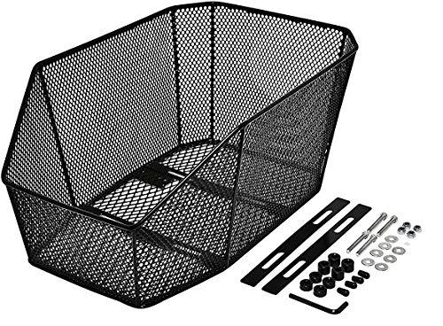 P4B | Fahrradkorb Schultaschenkorb Jumbo Pro Fahrrad Korb für Gepäckträger Hinterradkorb | Festmontage XXL