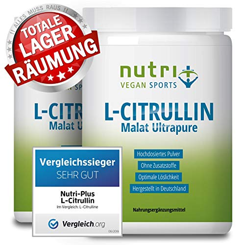 TESTSIEGER L-Citrullin 2019 - L-CITRULLINE MALAT Pulver 1kg Vegan - höchste Dosierung & Reinheit - Bodybuilding Fitness - Malate DL 2:1 - hergestellt in Deutschland...