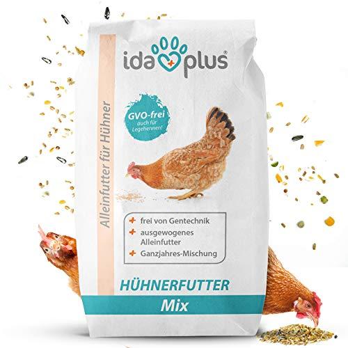 Ida Plus - Hühnerfutter Mix 25 Kg - Ausgewogenes Alleinfutter - Ganzjahresmischung, GVO-frei auch für Legehennen - Bestens für Futterautomaten geeignet - Enthält...