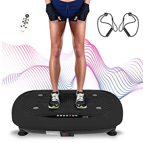 Ativafit vibration plate, vibration shaper plate training device for whole body with LCD monitor, fitness home vibration device vibration trainer with 3 ...