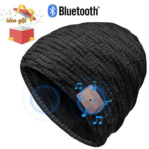 HANPURE Bluetooth Mütze Damen & Herren Geschenke, Bluetooth Mütze mit Bluetooth 5.0 Kopfhörern für Outdoor-Sport, Skifahren, Laufen, Skaten, Geburtstagsgeschenke...