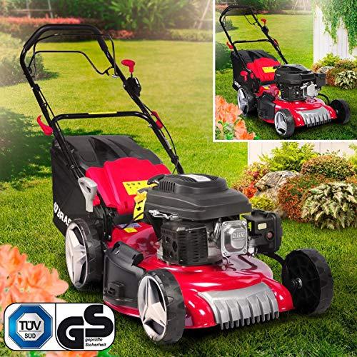 BRAST petrol lawn mower 3,5kW (4,76PS) -5,2kW (7PS) RED LINE wheel drive 46-51cm cutting width 224ccm steel housing 60L grass catcher TÜV