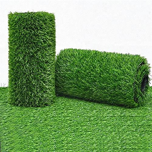 uyoyous Kunstrasen Rasenteppich Grasmatte Künstlicher Rasen Rollrasen Kunststoffrasen Gras Rasenteppich Kunststoffrasen für Garten Terrasse Balkon (Höhe: 30 mm,1m...