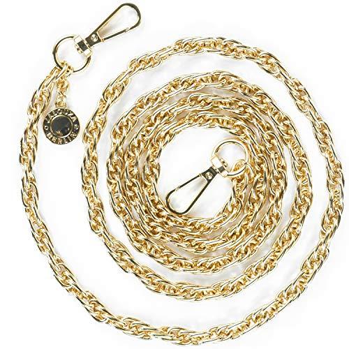 Jalouza Handykette Ersatzkette in Farbe Gold, Smartphone Spiral- Kette zum Wechseln, kombinierbares Handy Necklace zum Umhängen, Gliederkette - Länge 120cm, Made...