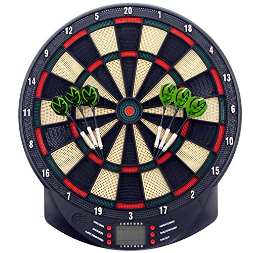 MCTECH® Profi electronic dart board Dartboard Dartona soft darts Steeldart 6 darts + 70 variants (Type A)