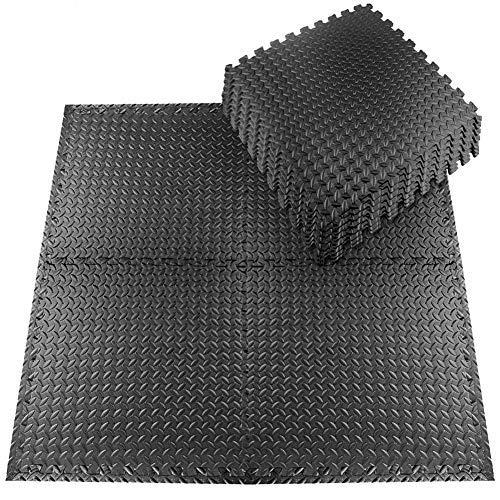 Schutzmatten Set 20 Stück 30x30cm Fitnessmatten Bodenschutzmatten für den Bodenschutz gegen Stöße, Dellen, Flüssigkeiten, Kälte zum Einsatz im Sportraum,...