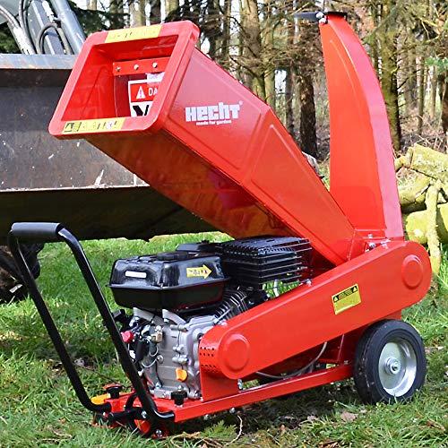 Hecht Benzin Häcksler mit kraftvollen 7,0 PS 4-Takt Motor und 208 ccm - ideal für dickes und sperriges Holz/Äste – Mit moderner und brandneuster Technik –...
