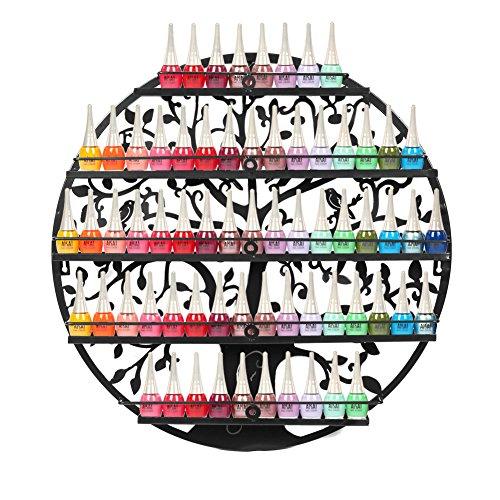 FullBerg 5-Tier Metall Nagellackregal Wandregal Nagellack Organizer Aromatherapie und ätherischen Ölen Regal Lippenstiftständer Display Rack Aufbewahrung Damen -...