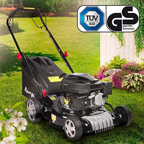 BRAST petrol lawn mower wheel drive 3,0kW (4,1PS) 41cm cutting width 40L grass basket 144ccm TÜV approved