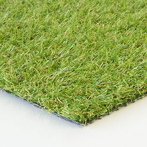 Steffensmeier Kunstrasenteppich Springfield   Outdoor für Terrasse und Balkon   wasserdurchlässig mit UV-Garantie   Meterware, Größe: 100x50 cm