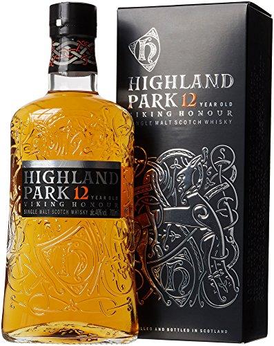 Highland Park 12 vuotta Viking Honor Single Malt Scotch -viski (1 x 0.7 l) - täyteläinen, savuinen maku, viski Viking-sielu