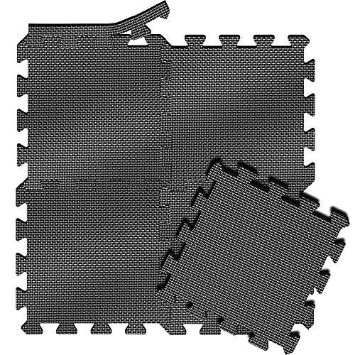 arteesol Schutzmatten Set 18er Puzzlematten Trainingsmatten wasserdichte Bodenschutzmatten Unterlegmatte, Anti-rutsch Bodenauflagen Gymnastikmatten für Pool...