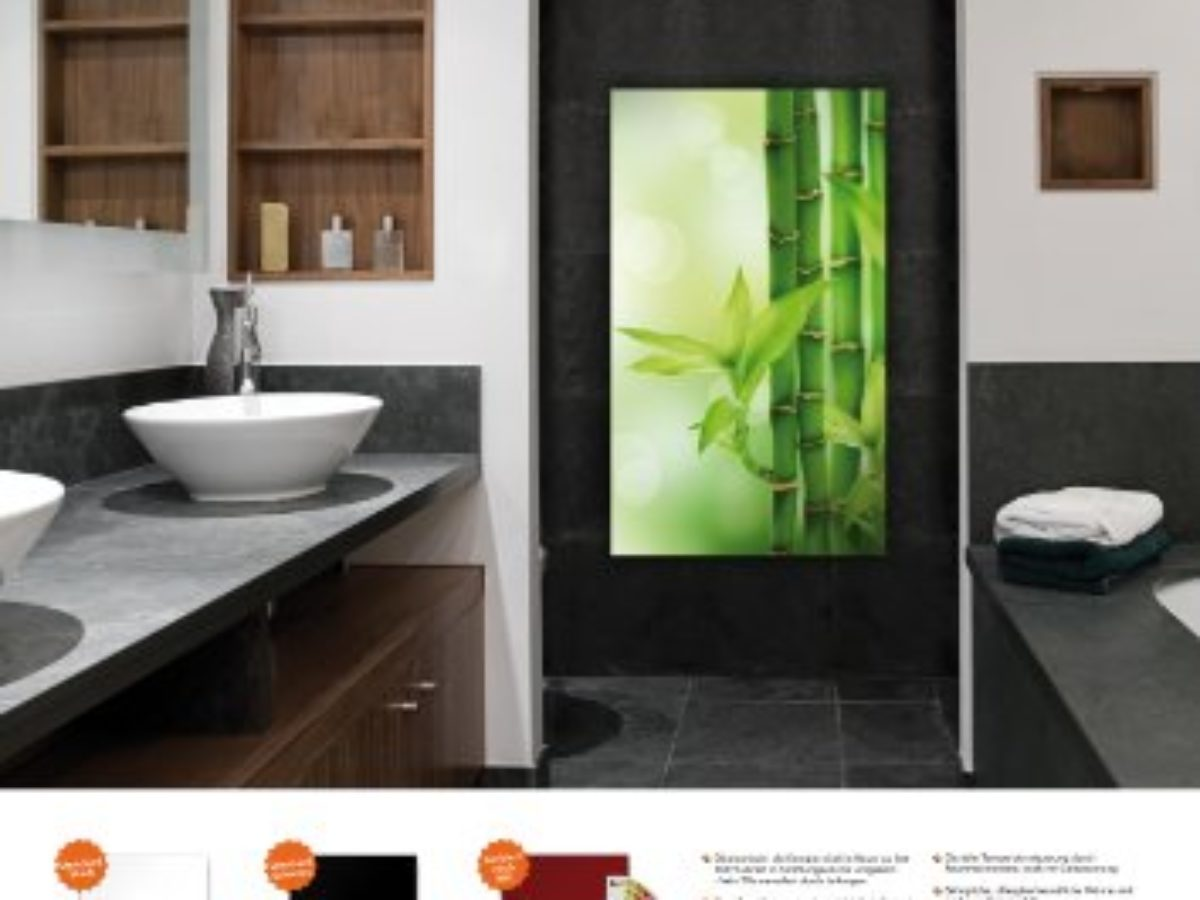 Infrarotheizung Infrarot 20 Watt Metall Premium Weiss Glaswärmt ...