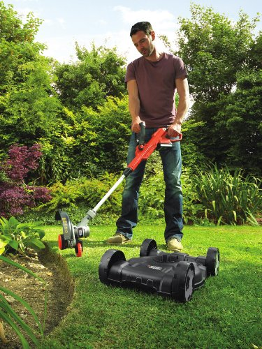 Lawnmower Battery Black + Decker with Cordless Grass Trimmer 18 V, STC1820CM5