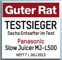 Entsafter Panasonic Saftpresse Mj L500sxe Slow Juicer Saftpresse : Panasonic Archive Test & vergleiche kaufe den TestsiegerTest & vergleiche kaufe den Testsieger