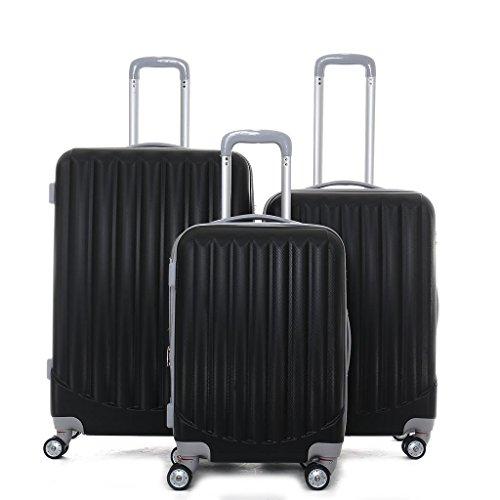 Valises Coque rigide valise Valise de Voyage Set Trolley Valise Bagages 3tlg.