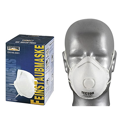 tooltech ffp2 en149 lot de 3 masques de protection respiratoire
