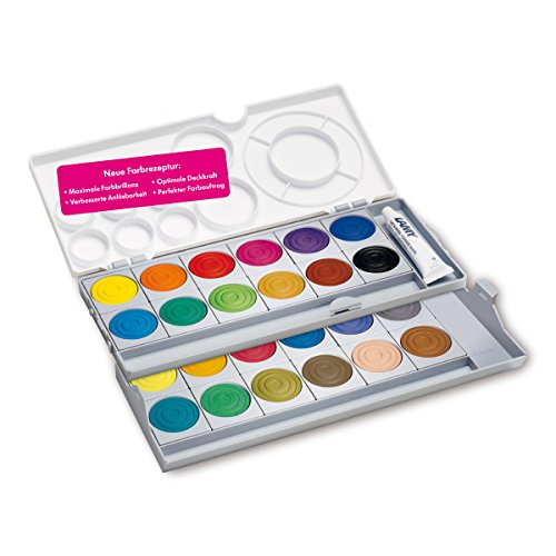 Faber-Castell CONNECTOR 125030 Paint Box with 12 Colours Including Opaque White