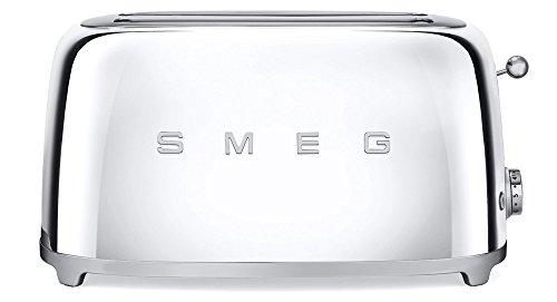 toaster smeg retro edelstahl 4 scheiben tsf02sseu chrom. Black Bedroom Furniture Sets. Home Design Ideas