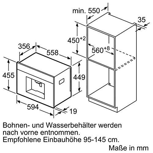 einbau kaffeevollautomat bosch ctl636es6. Black Bedroom Furniture Sets. Home Design Ideas
