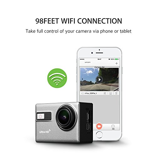actioncam 4k 2 0 zoll 24fps action kamera sport camera. Black Bedroom Furniture Sets. Home Design Ideas
