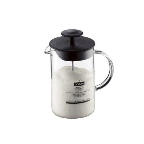 Milchschäumer Bodum 1446-01 mit Glasgriff Latteo, schwarz