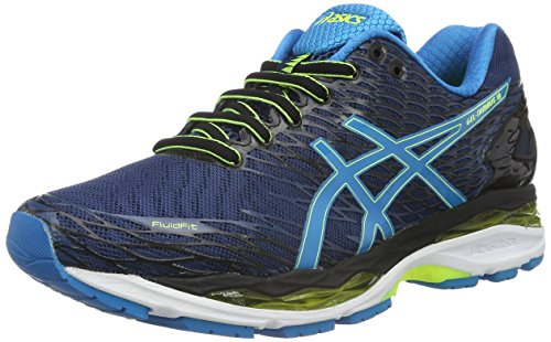 Black Silver Flash Yellow ASICS Herren Laufschuhe GEL