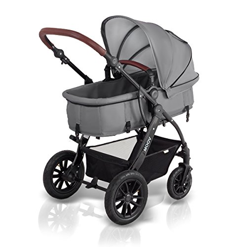 kinderwagen kinderkraft kombikinderwagen 3 in 1 mit buggy babyschale grau im juli 2018. Black Bedroom Furniture Sets. Home Design Ideas