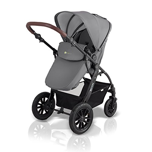 kinderwagen kinderkraft kombikinderwagen 3 in 1 mit buggy babyschale grau im mai 2018. Black Bedroom Furniture Sets. Home Design Ideas
