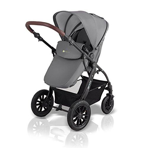 kinderwagen kinderkraft kombikinderwagen 3 in 1 mit buggy babyschale grau im mai 2018. Black Bedroom Furniture Sets. Home Design Ideas