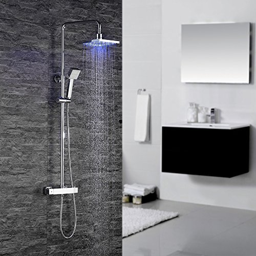 duschsystem homelody thermostat duscharmatur dusche eckig im m rz 2019. Black Bedroom Furniture Sets. Home Design Ideas