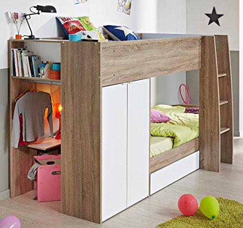 hochbett parisot stim kinderhochbett mit integriertem schrank im m rz 2019. Black Bedroom Furniture Sets. Home Design Ideas
