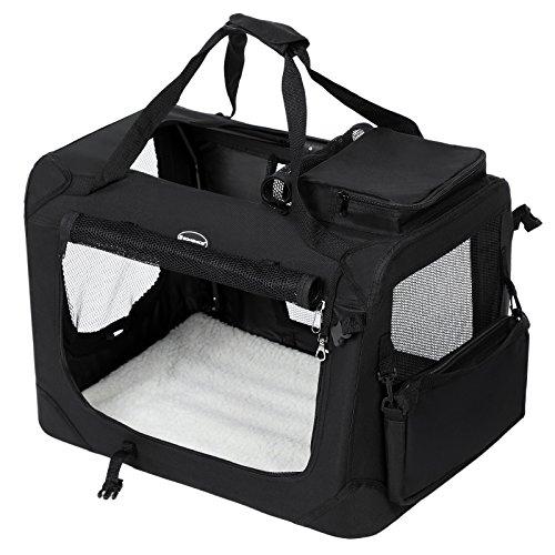 hundebox songmics faltbare oxford gewebe hundetransportbox. Black Bedroom Furniture Sets. Home Design Ideas