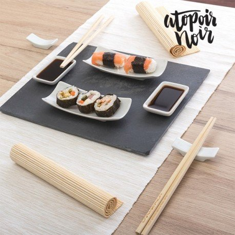 sushi set mazali ko sushi service mit schieferplatte g nstig kaufen im oktober 2018. Black Bedroom Furniture Sets. Home Design Ideas