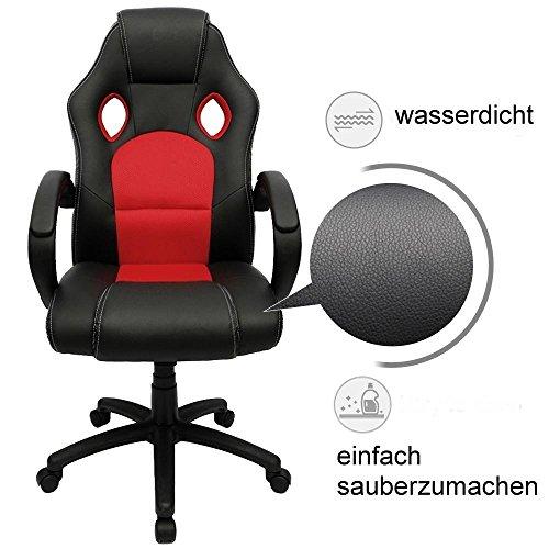 racing stuhl ebs racing b rostuhl gaming stuhl rot chromtestsieger vergleich und test g nstig. Black Bedroom Furniture Sets. Home Design Ideas