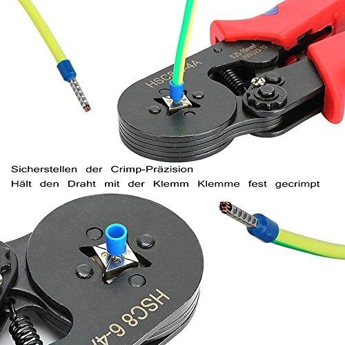 Crimpzange VTYII Set Mit 1200 Aderendhülse Kabelschuhe Crimpwerkzeug
