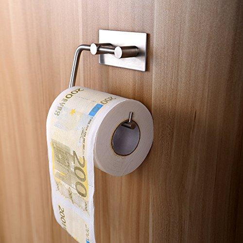 Toilettenpapierhalter ohne Bohren Vanten Edelstahl klopapierhalter Selbstklebend