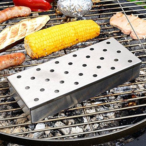 BBQ Smoking Box für Gasgrill Holzkohlegrill Chips Späne Räuchern Räucherbox