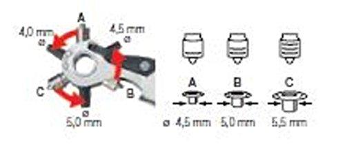 Revolverlochzange Wiha Professional, 225mm, Lochzange für Gürtel